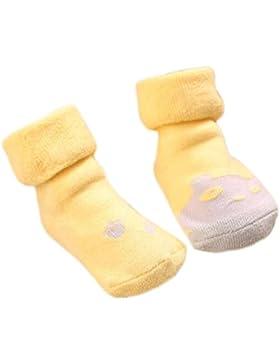 3 pares de calcetines antideslizantes para bebés recién nacidos Calcetines antideslizantes y finos de algodón...