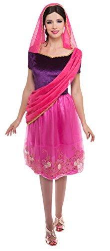 ,Karneval Klamotten' Kostüm Kostüm Hindu Dame Bollywood Karneval Indien Damenkostüm Größe 40/42 (Indischen Themen Party Kostüme)