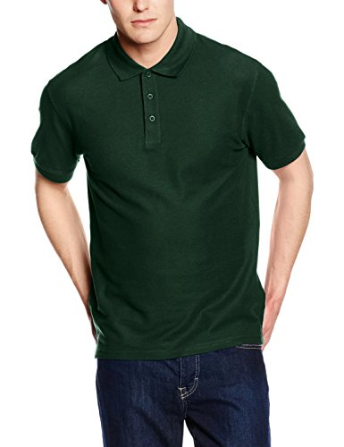 fruit-of-the-loom-ss035m-polo-para-hombre-color-verde-bottle-green-talla-large