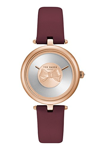 Ted Baker Womens Andrea Rose Gold Bow Dial Brown Leather Strap TE15199004
