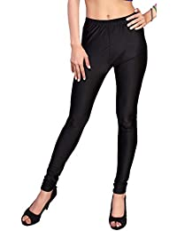 Comix Women Cotton Lycra Fabric Comfort Fit Ankle Length Plain Leggings (Black,XXXL)