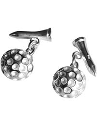 Manschettenknöpfe Sterling-Silber 925 Motiv Golfball Designbox