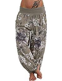 3d72536de50 Yoga Pants TUDUZ Women Casual Baggy Thailand Indonesian Floral Print Wide  Leg Pants Boho Aladdin Loose