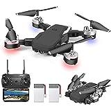 OBEST Dron con Cámara 1080P HD, Cuadricóptero Plegable por APP WiFi or Control Remoto, 3 Modos de Velocidad, Modo sin Cabeza,
