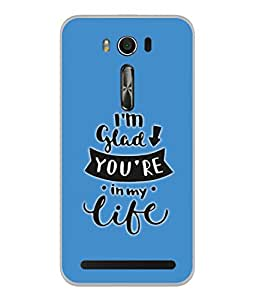 PrintVisa Designer Back Case Cover for Asus Zenfone 2 Laser ZE500KL (5 Inches) (Love Lovely Attitude Men Man Manly)
