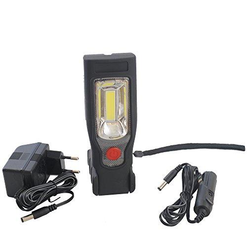 COB LED Arbeitsleuchte Werkstattlampe Handlampe Schwenklampe Stablampe mit Akku
