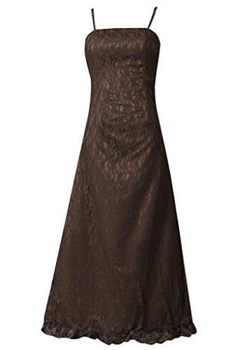 Sunvary elegante Spaghetti cinghie Madre della Sposa abito prom Gowns cioccolato 26W