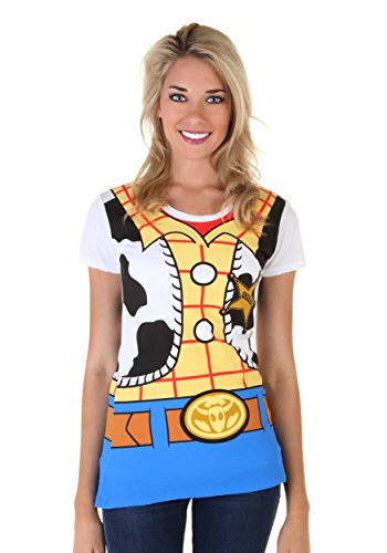 Kostüm Shirt Woody - Toy Story I Am Woody Womens Fancy dress costume Tee Large