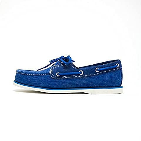 Timberland Classic Fabric Men Chaussures Boat Blue A16O4, Size:43.5