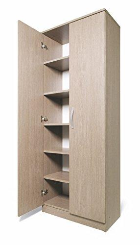Kit armadio scarpiera 2a/5p cm.71x38x182h larice grigio