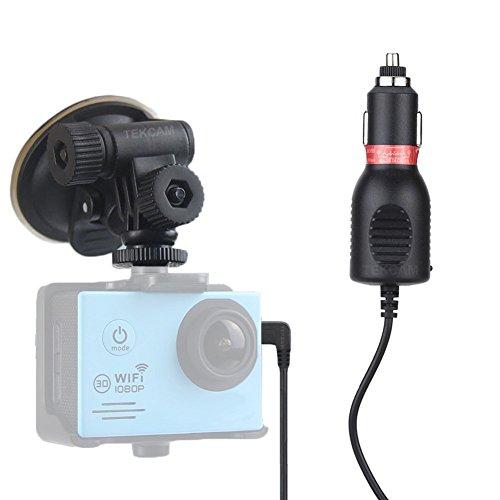 Tekcam Support de Caméra d'action pour voiture avec support ventouse pour caméra de sports étanche