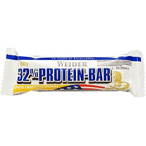 Weider 32% Protein Bar, Weiße Schokolade-Banane, 1er Pack (24x 60g Riegel)