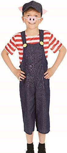 Fancy Me Mädchen Jungen DREI Kleiner Pigs Welttag des Buches-Tage-Woche Märchen Kinderzimmer Reim Tierfarm Natur Kleid Kostüm Schuhe 4-12 Jahre - 8-10 Years