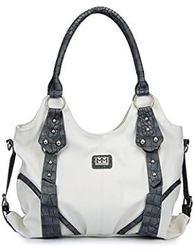 ManuMar Damen Handtasche Bella Henkeltasche 36x25x11 cm
