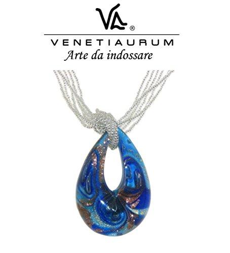 Venetiaurum - Halskette aus Muranoglas und 925 Silber. Made in Italy