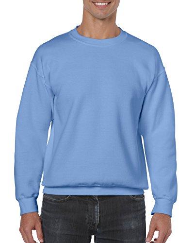 50 Fleece Crew Sweatshirt (Gildan Herren Fleece-Rundhals-Sweatshirt - Blau - Groß)