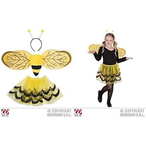 Lively Moments Bienenset für Kinder Bienenkostüm 3-teilig Tutu, Flügel, Antennen / Kinderkostüm Biene (Flügel Und Antenne Biene)