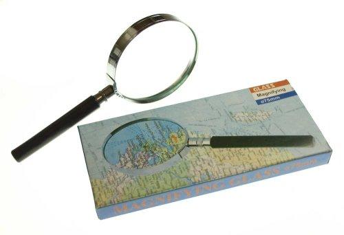 Preisvergleich Produktbild Lupe Magnifying Glass Vergrößerung 75mm NEU
