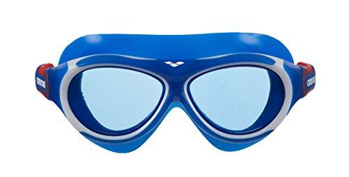 arena Kinder Unisex Schwimmmaske Brille Oblò Junior (Verstellbar, UV-Schutz, Anti-Fog Beschichtung), blau (Blue-Blue), One Size (Tauchen Maske Junior)