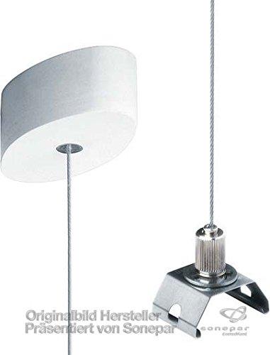 Zumtobel Licht Seilabhängung RTX2 ASI2000 WH inkl. Baldachin SLOTLIGHT Infinity Mechanisches Zubehör für Leuchten 9005798116798 (Baldachin Möbel)