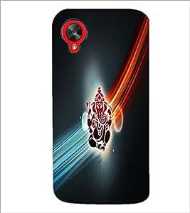 PrintDhaba Lord Ganesha D-4532 Back Case Cover for LG GOOGLE NEXUS 5 (Multi-Coloured)
