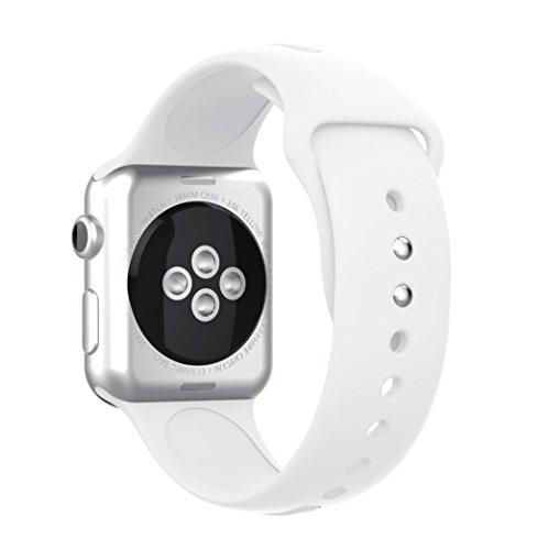 YaYuu Correa Apple Watch 42mm 38mm Pulsera iWatch de Reemplazo Ajustable, Banda Silicona para Reloj Apple, Brazalete Deportivo Flexible y Transpirable para Apple Watch Series 1/2 / 3/4