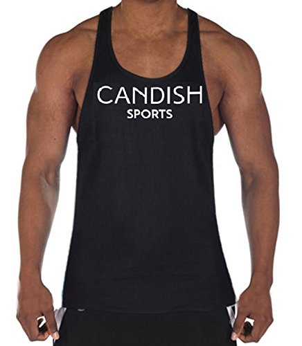 candish Dutch Herren Bodybuilding Gym Weste Stringer Tank Training Top schwarz