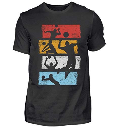 EBENBLATT Vintage Retro Volleyball Team Sport Geschenk Geschenkidee für das Mannschaft Training - Herren Premiumshirt -L-Schwarz