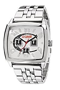 Just Cavalli Screen Men's Quartz Watch with White Dial Analogue Display and Orange Stainless Steel Strap R7253625015