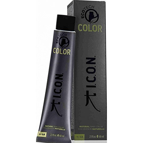 I.C.O.N. Ecotech Color Natural Color Colorazione Permanente, Unisex, 4.5 Medium Mahogany Brown - 60 ml