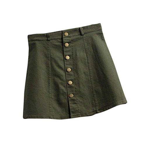 Rcool Mode Taille Rock koreanischen Stil kurze Jeansrock für Frauen Damen (S, (Kostüme Armee Kunststoff Mann)