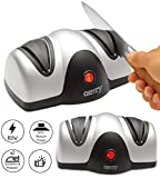 Messerschärfer | Eletkrischer Messerschleifer | Messerschleifmaschine | Allesschärfer | Schärfgerät | 2 Stufen | Schärfprozess für alle glatten Messerarten |
