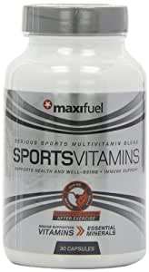 Maxifuel Sports Vitamins Training Support Capsules - Tub of 30