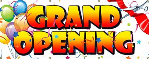 Grand Opening Banner aus Heavy Duty Vinyl 368,5Outdoor Haltbarkeit-Hochglanz-Finish 2x5 ft - Heavy-duty-outdoor-banner