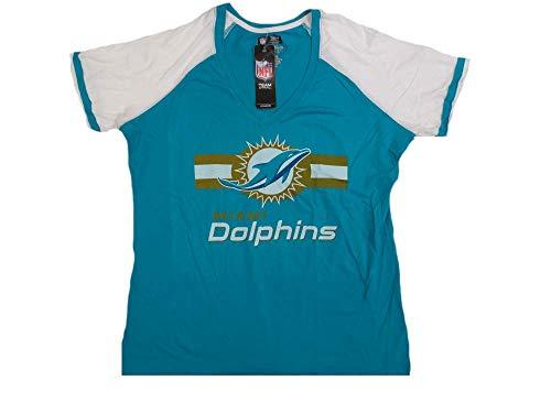 Miami Dolphins Frauen Majestic Go für Zwei T-Shirt Größe XXL -