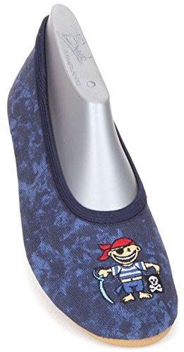 Beck Jungen Pirat Gymnastikschuhe, Blau (dunkelblau), 28 EU