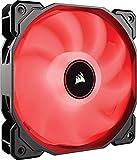 Corsair AF140 LED High Airflow LED PC-Gehäuselüfter (120mm, mit Hydraulik-Lager, Single Pack) rot
