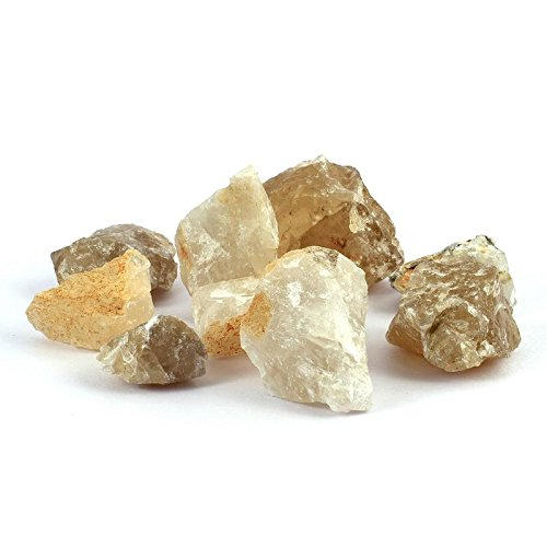 Divine Magic Citrine Healing Crystal Stone for Men/Women - Manifest and Attracts Wealth and Prosperity, Success, and All Good Things! | 200 Grams (6-8 Raw Rough Stones Approx.)