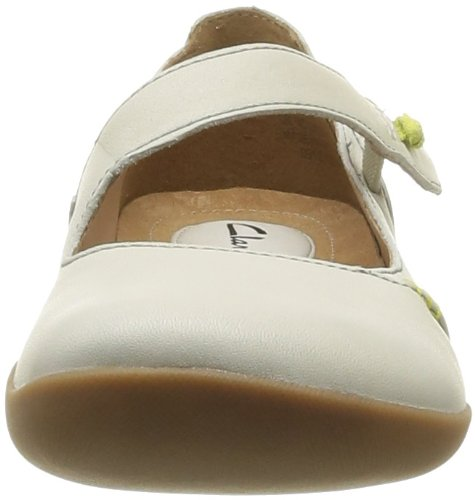 Clarks - Felicia Plum, Ballerine Donna Bianco (Cotton Leather)