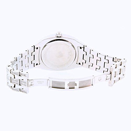 e008cc5dcf651 Bulova Mens Crystal Day-Date Watch #96C002 (Factory Refurbished)