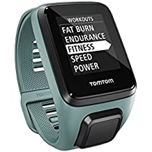 TomTom Spark 3 Multi Sport GPS Fitness Watch with Heart Rate Monitor - Small Strap, Aqua