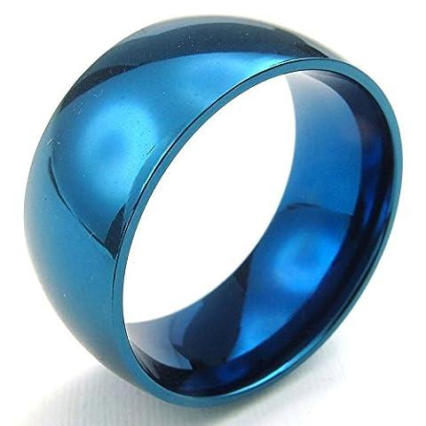 Aooaz Gravure Libre Anneau Pour Hommes 10 mm Bleu Pour La Taille 64 Promesse De Mariage Nouveauté