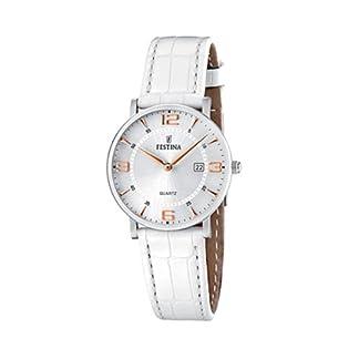 FESTINA F16477/4 – Reloj para Mujer de Cuarzo, Correa de Piel, color blanco