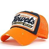 ililily Howel's Distressed Vintage Baseball Mesh Cap Trucker Hat