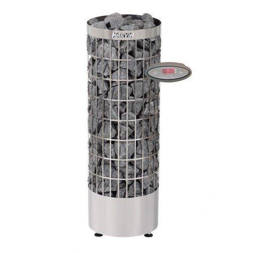 Harvia Cilindro Saunaofen - PC90EE 9,0 kW separates Steuergerät ist enthalten, Farbe: Edelstahl