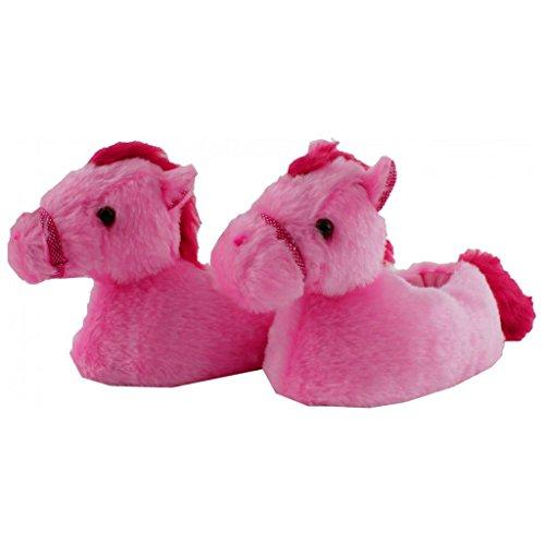 Horka Kinder Junior Kleinkinder slof Horse Thermo Boots flauschige Hausschuhe für Kinder rose