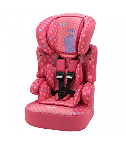 Kindersitz / Sitzerhöhung Gruppe 1/2/3 (9bis 36kg), hergestellt in Frankreich, 3Sterne bei TCS-Test, 4Farben, seitlicher Schutz, gepolsterte und höhenverstellbare Kopfstütze