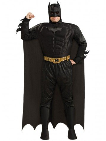 Knight Batman Adult Dark Deluxe Kostüm - Batman The Dark Knight Deluxe Herren Kostüm Gr. XXL