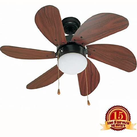 81cm Palao 6 Blade Ceiling Fan with Light Colour: Brown
