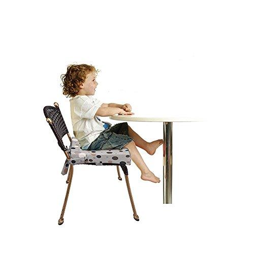 Riemen-verlngert-Kinderstuhl-Booster-Pad-Robuste-Oxford-Dismountable-Verstellbare-Kinder-Dining-Chair-Booster-bequemes-Kissen-Easy-Clean-Baby-Kindersitze-Grau